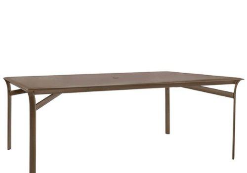 BROWN JORDAN PASADENA 45 x 79 DINING TABLE - SOLID TOP / UMBRELLA HOLE