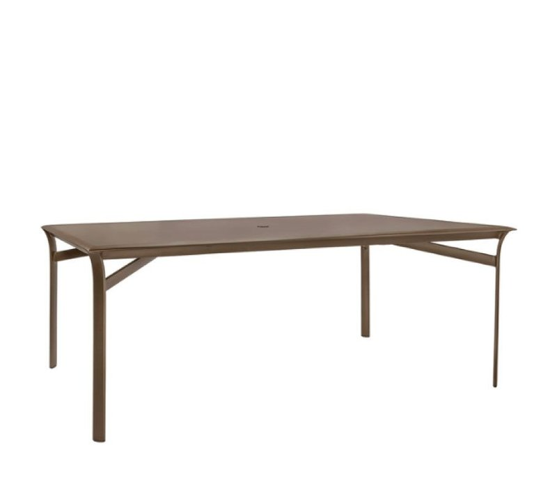 PASADENA 45 x 79 DINING TABLE WITH SOLID TOP AND UMBRELLA HOLE