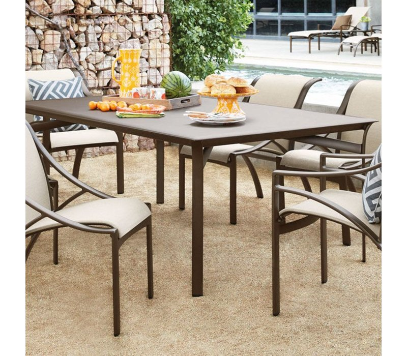 COAST / PASADENA 45 x 79 DINING TABLE WITH SOLID TOP AND UMBRELLA HOLE