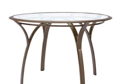 BROWN JORDAN PASADENA 42 ROUND DINING TABLE WITH GLASS TOP