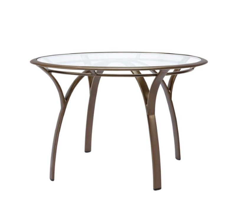 PASADENA 42 ROUND DINING TABLE WITH GLASS TOP