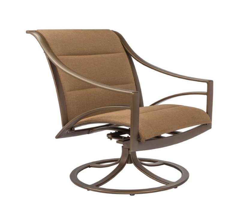 PASADENA PADDED SLING SWIVEL TILT LOUNGE CHAIR