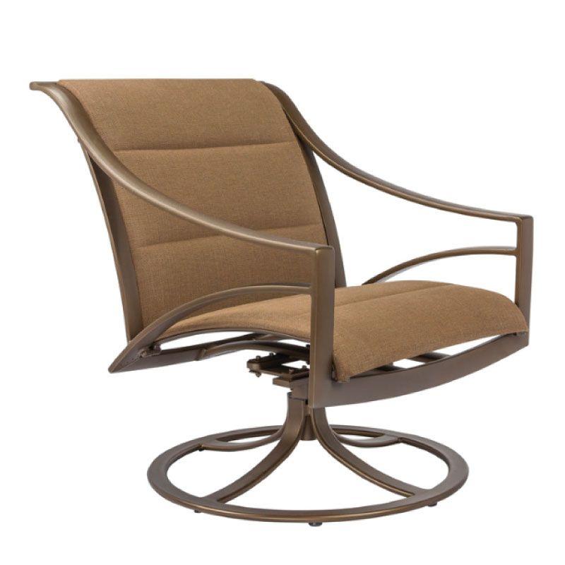 PASADENA PADDED SLING SWIVEL MOTION LOUNGE CHAIR WITH GRADE A SLING
