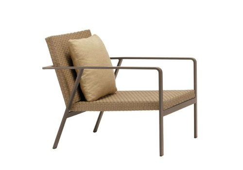 BROWN JORDAN ELEMENTS LOUNGE CHAIR WITH BACK PILLOW