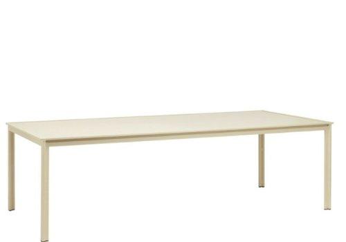 BROWN JORDAN SWIM 45 x 99 DINING TABLE - ALUMINUM TOP NO UMBRELLA HOLE