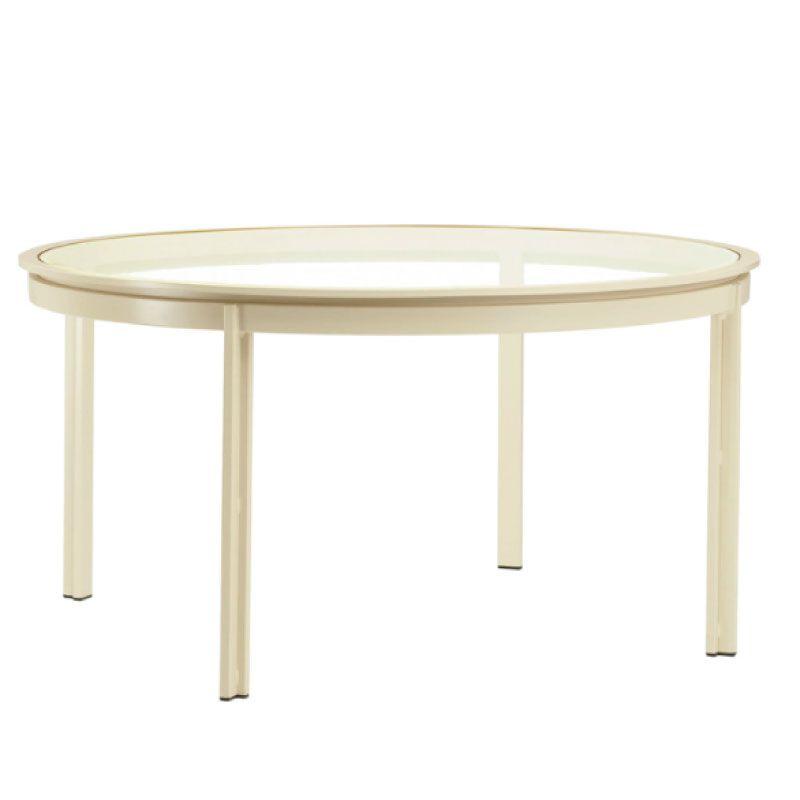 BROWN JORDAN SWIM 54 ROUND UMBRELLA TABLE - GLASS TOP