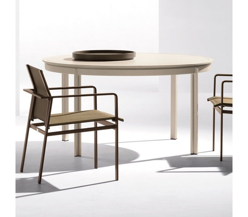 SWIM 54 ROUND UMBRELLA TABLE - GLASS TOP