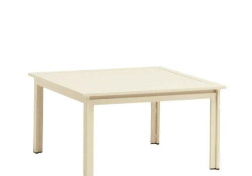 BROWN JORDAN SWIM 27 X 27 END TABLE - ALUMINUM TOP