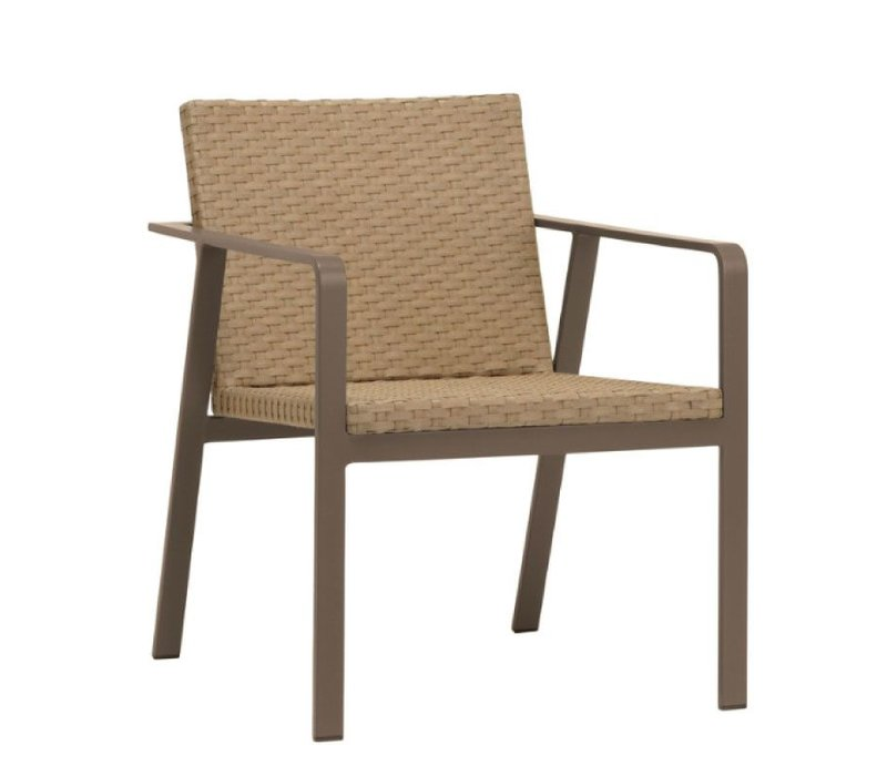ELEMENTS ARM CHAIR IN MOCA RESINWEAVE