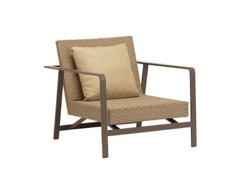 BROWN JORDAN ELEMENTS MOTION LOUNGE CHAIR WITH BACK PILLOW