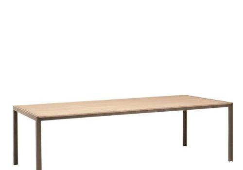 BROWN JORDAN ELEMENTS 45 x 78 DINING RESINWOOD TABLE NO UMBRELLA HOLE
