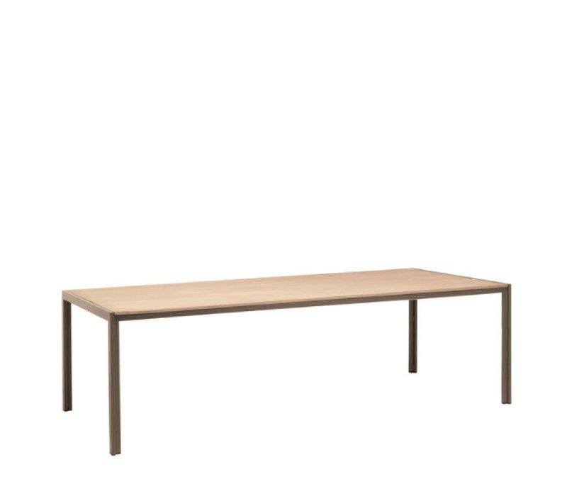 ELEMENTS 45 x 78 UMBRELLA RESINWOOD TABLE