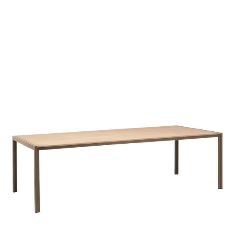 BROWN JORDAN ELEMENTS 45 x 78 UMBRELLA RESINWOOD TABLE