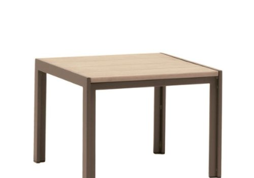 BROWN JORDAN ELEMENTS 20 SQUARE RESINWOOD END TABLE