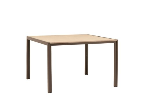 BROWN JORDAN ELEMENTS 45 X 45 DINING TABLE WITH MOCA RESINWOOD TOP / NO UMBRELLA HOLE