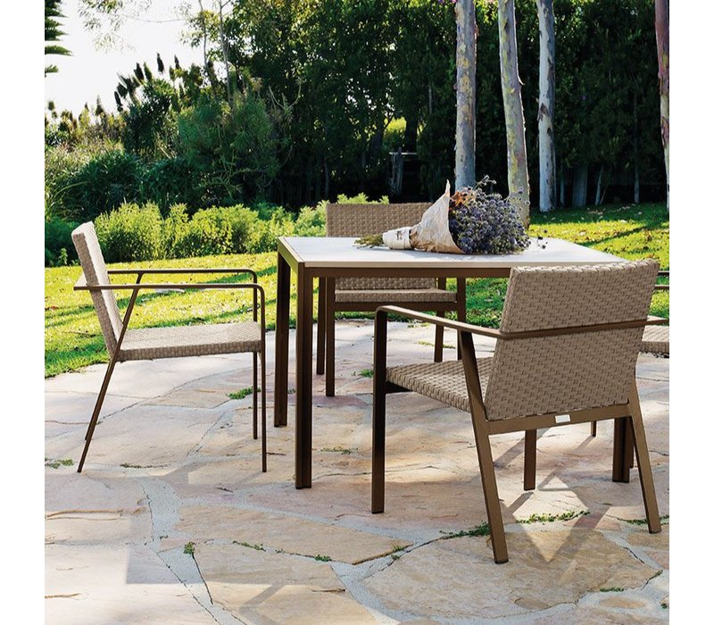 ELEMENTS 45 X 45 DINING RESINWOOD TABLE NO UMBRELLA HOLE