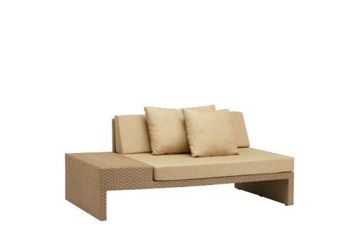 BROWN JORDAN ELEMENTS LEFT ARM FACING SECTIONAL W/ LOOSE CUSHIONS
