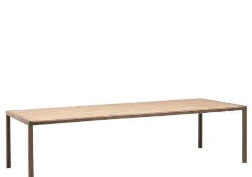 BROWN JORDAN ELEMENTS 45 x 98 UMBRELLA RESINWOOD TABLE