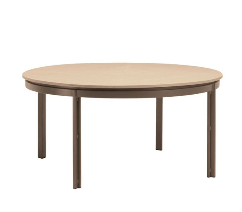 ELEMENTS 54 ROUND DINING TABLE RESINWOOD TOP NO UMBRELLA HOLE