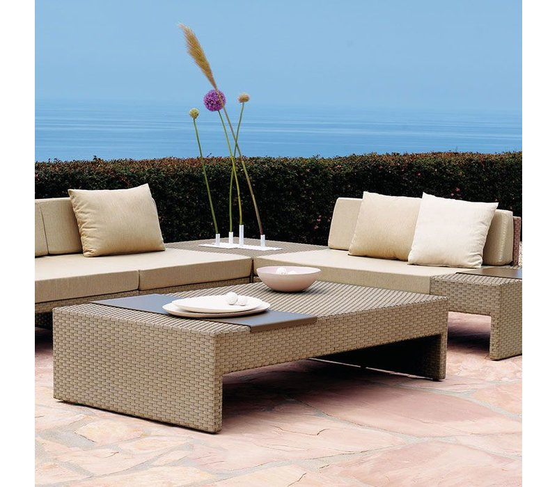 ELEMENTS 36 X 64 COFFEE TABLE IN MOCA RESINWEAVE