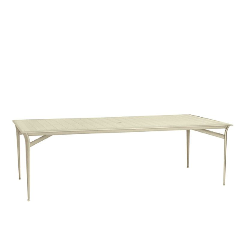 FLIGHT 45 X 79 RECTANGULAR DINING TABLE ALUMINUM TOP (NO UMBRELLA HOLE)
