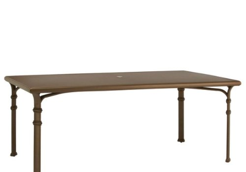 BROWN JORDAN FREMONT 44 x 78 DINING TABLE WITH ALUMINUM TOP
