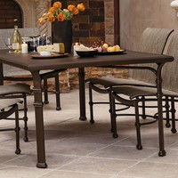 FREMONT 44 x 78 DINING TABLE WITH PYLON ALUMINUM TOP