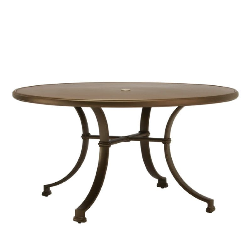 brown jordan fremont 54 dining table aluminum top kolo collection
