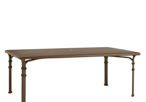 BROWN JORDAN FREMONT 44 x 98 DINING TABLE - ALUMINUM TOP