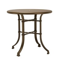 FREMONT 42 ROUND BAR UMBRELLA TABLE WITH SOLID ALUMINUM TOP