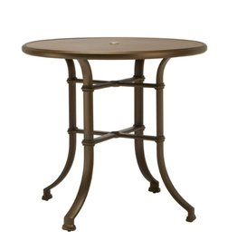 BROWN JORDAN FREMONT 42 ROUND BAR UMBRELLA TABLE - ALUMINUM TOP