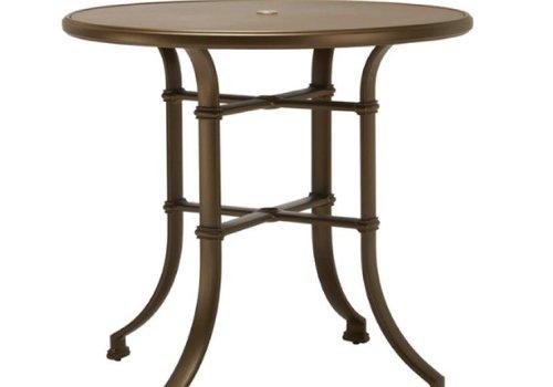 BROWN JORDAN FREMONT 42 ROUND BAR UMBRELLA TABLE - ALUMINUM TOP