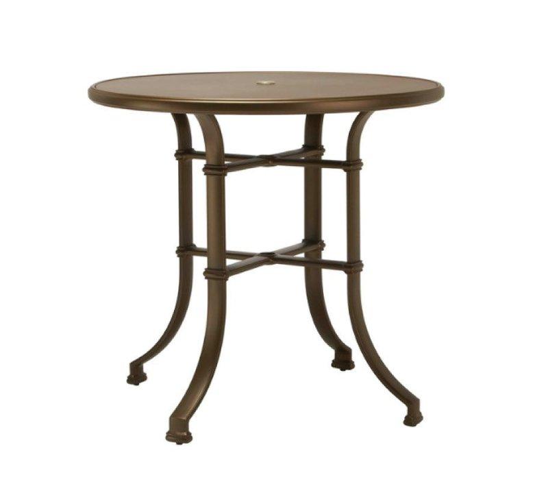 FREMONT 42 ROUND BAR UMBRELLA TABLE - ALUMINUM TOP