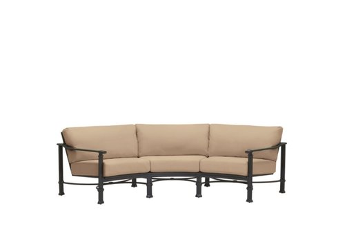 BROWN JORDAN FREMONT CURVED SOFA WITH CUSHIONS
