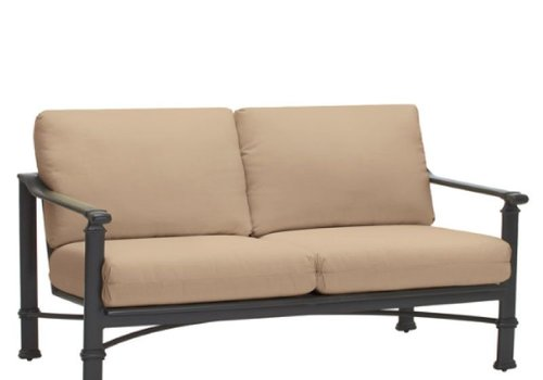 BROWN JORDAN FREMONT LOVESEAT WITH CUSHIONS