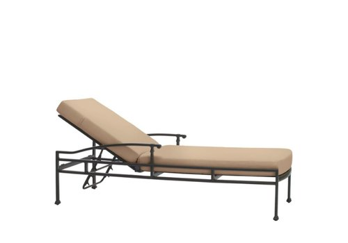 BROWN JORDAN FREMONT ADJUSTABLE CHAISE WITH GRADE A FABRIC