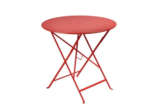 FERMOB BISTRO 30 ROUND FOLDING TABLE WITH PARASOL HOLE - FREE SHIPPING