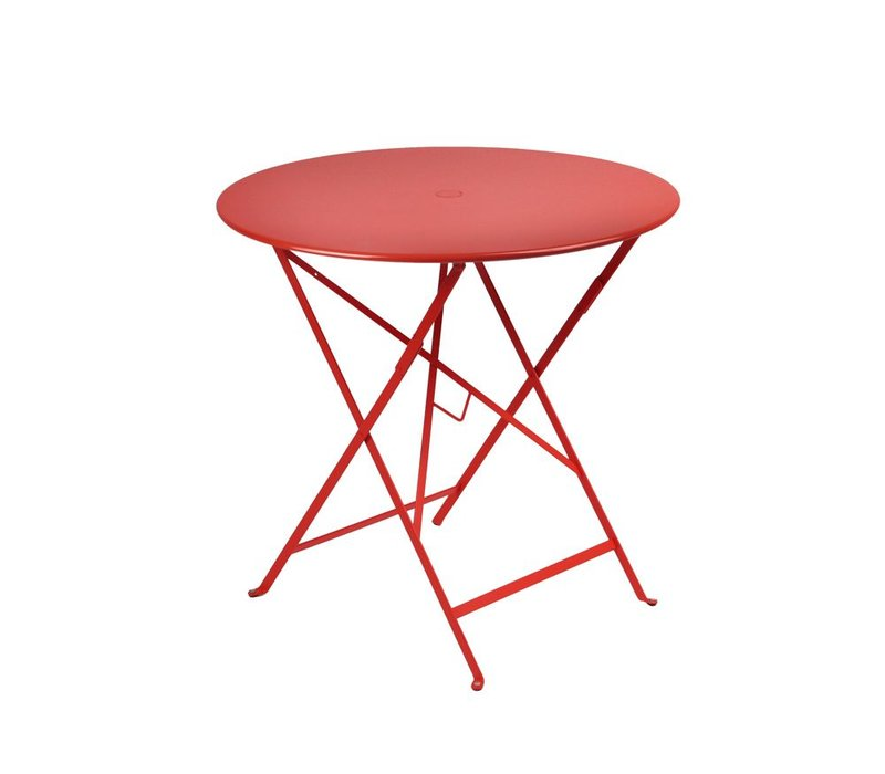 BISTRO 30 ROUND FOLDING TABLE WITH PARASOL HOLE - FREE SHIPPING