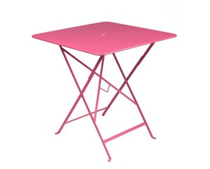 FERMOB BISTRO 28 x 28 FOLDING TABLE WITH PARASOL HOLE - FREE SHIPPING