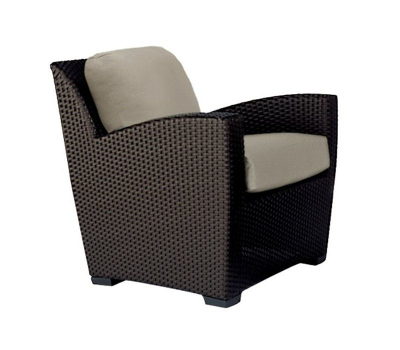 FUSION LOUNGE CHAIR PILLOW BACK- BRONZE