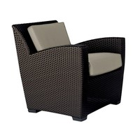 FUSION LOUNGE CHAIR SLIM BACK - BRONZE