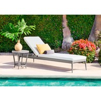 LUNA ADJUSTABLE CHAISE WITH CUSHION