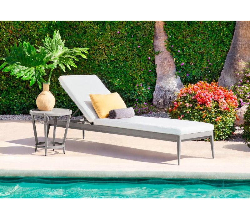 LUNA ADJUSTABLE CHAISE WITH CUSHION - GRADE A