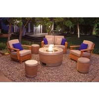 LOOP STOOL OR SIDE TABLE, NATURAL