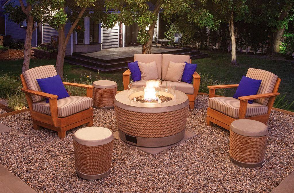 BROWN JORDAN FIRES LOOP STOOL OR SIDE TABLE, NATURAL
