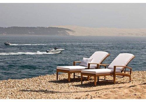 DEDON PANAMA BEACH CHAIR WITH WHEELS