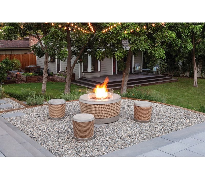 LOOP BIOETHANOL FIRE ELEMENT IN NATURAL
