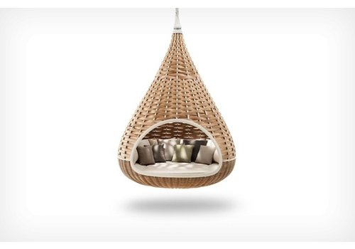 DEDON NESTREST HANGING LOUNGER IN NATURAL WEAVE