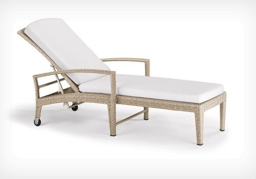 DEDON PANAMA BEACH CHAIR WITH WHEELS - ECRU