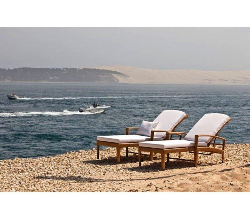 PANAMA BEACH CHAIR WITH WHEELS - ECRU
